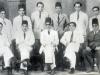 CMSF Committee of Management 1950. Seated (L-R): M.L.M. Mackeen, A.M.A. Azeez (Chairman), M.A.S. Marikar (President BoT), Dr. M. Mohideen Hassan (Secretary) & M. Mathany Ismail. Standing (L-R): Dr. A.R.M. Waffarn, A.J.M. Jameel, M. Rafeek, M.H.S. Marikar, M.H.M. Naina Marikar & M.U.M. Saleem.