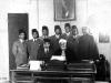 Azeez and 4 CMSF scholars with Rector of Al-Azhar University, Cairo, Egypt in 1947