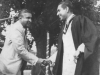Welcoming Prime Minister Hon. Dudley Senanayake at Zahira College in 1953
