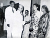 Hon. Badiudin Mahmud, Minister of Education, meeting members of the staff at the Special Assembly on 28.7.1960