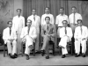 Farewell to M. Moosa by Zahira College office staff in 1956