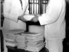 Receiving books from Egypt through S.S. Issadeen in 1956