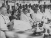 Rev. Fr. T.M.F. Long, Rector of St. Patrick's College, Jaffna and Sir Richard Aluwihare at the Athletics Meet at Zahira College in 1950.