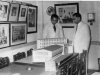 Oliver Weerasinghe of UNO inspecting model of Ceylon Muslim Cultural Center.