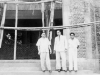Dr. S.A. Imam, Azeez and M.J.M Muhsin at the Ceylon Muslim Cultural Center Site in 1959