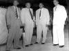 B.J.H. Bahar (Snr), Hon. Dudley Senanayake, Sir Learie Constantine and A.M.A. Azeez