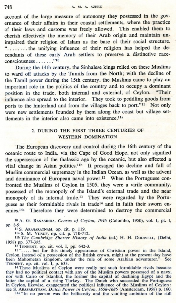 """""""Some Aspects of the Muslim Society of Ceylon with Special Reference to the Eighteen-Eighties"""""""